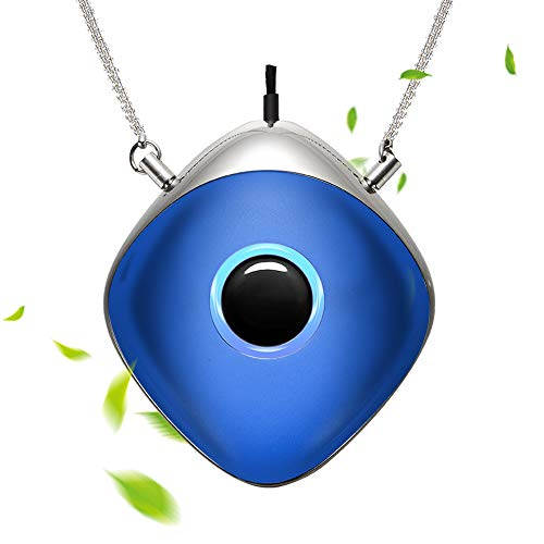 WOOLALA Wearable Air Purifier Necklace Personal Air Cleaner Around Neck Negative Ion Generator for Travel Office 28Hours Long Battery Life