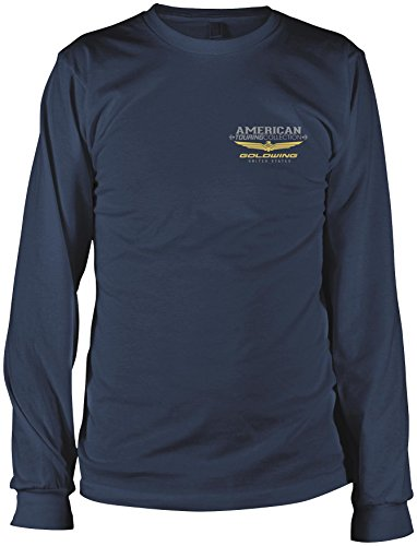 Honda Mens Goldwing Tour Collection Long-Sleeve T-Shirt, Navy, (Honda Goldwing T-shirts)