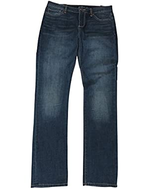 Women's Brooke Straight Blue Denim Jeans, Size 8/29