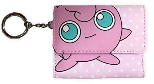Nintendo Pokemon Go Jigglypuff Tri-fold Wallet Anime Cosplay Pink Polka Dots