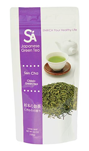 SA Japanese Green Tea Sen Cha, Loose Leaf, 3.5 oz - Loose Green Leaf
