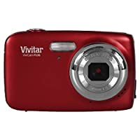 Vivitar VF126 14.1 MP Digital Camera with 1.8-Inch LCD Screen and Anti-Shake/Face Detection - Red
