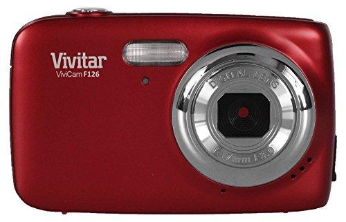 Vivitar VF126 Digitalkamera (14,1 MP, 1,8 Zoll LCD-Bildschirm, Anti-Shake-/Gesichtserkennung) Rot