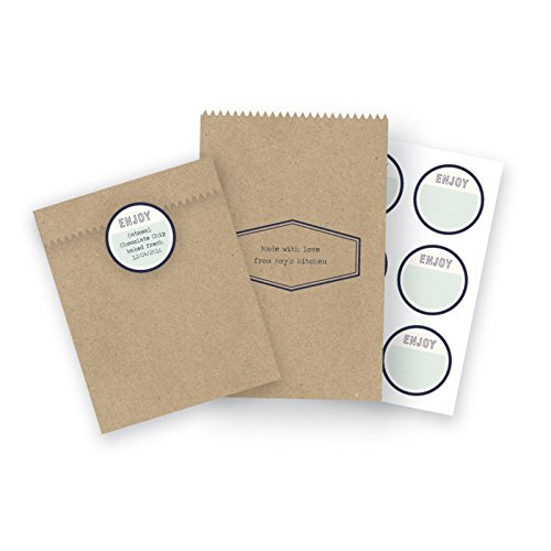 American Crafts 663120 6 Piece We R Memory Keepers Typecast Kraft Treat Bags by American Crafts (Image #1)