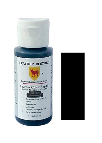 Leather restore leather color repair black 1 oz bottle - Auto interior restoration products ...