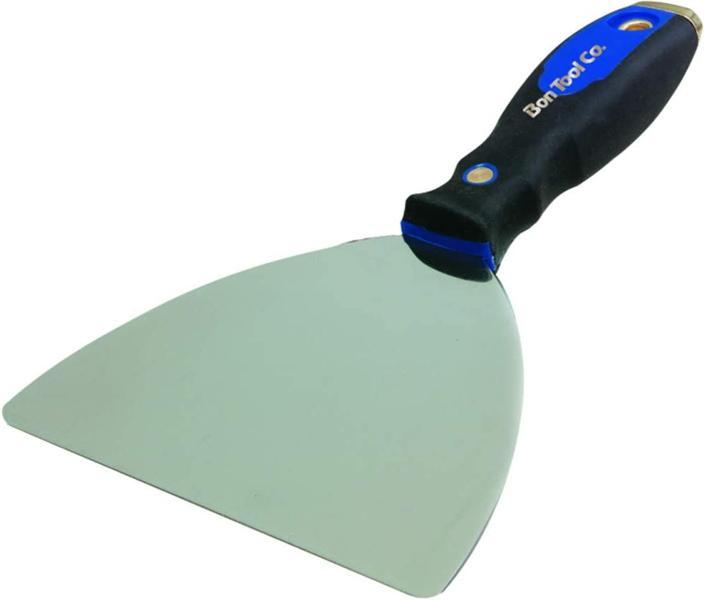 Bon 22-625 Curry 16-Inch by 4-Inch High Carbon Steel Finishing Trowel with Comfort Grip Handle