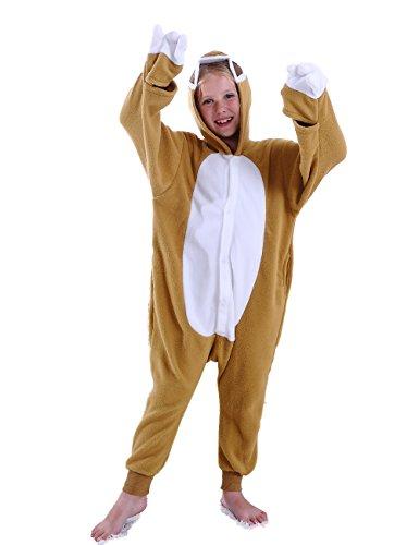 Ifboxs Kids Sloth Animal One Piece Pajamas Children Halloween Cosplay Costume for Girls and Boys