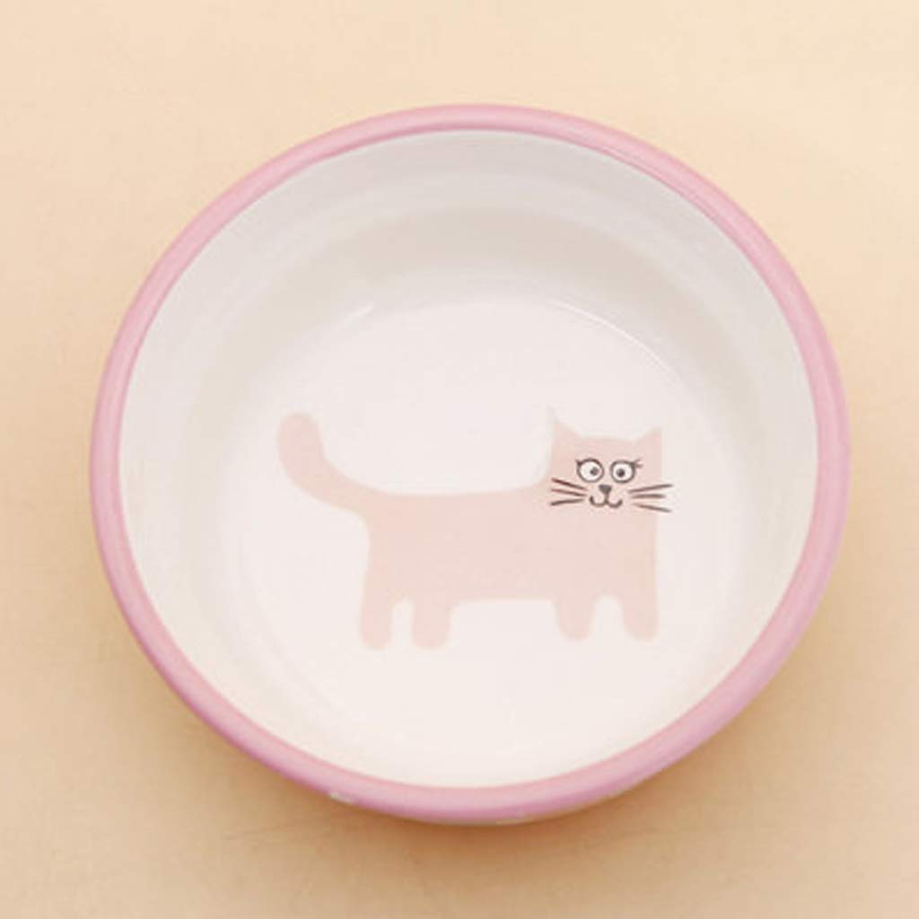 CXQ Dog Bowl Cat Bowl Creative Kitten Ceramic Bowl Cat Food Dog Food Bowl Pink Pet Supplies