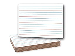 Flipside Products 10134 Red and Blue Ruled Dry Erase Board, Dual Sided, White (Pack of 12)