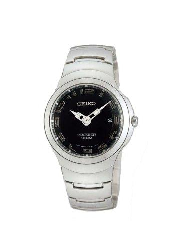 RELOJ SEIKO HOMBRE COLECCION PREMIER ACERO INOXIDABLE CRISTAL ZAFIRO SUMERGIBLE 10 BARES: Amazon.es: Relojes
