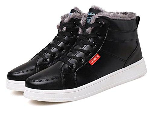 LINYI Männer Baumwolle Schuhe Plus Samt Winter Wärme Casual Business Schuhe Sport Schwarz Braun Blau Black
