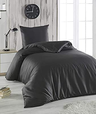 Melunda 2 Tlg Mako Satin Bettwäsche Set Bettdeckenbezug 155x200