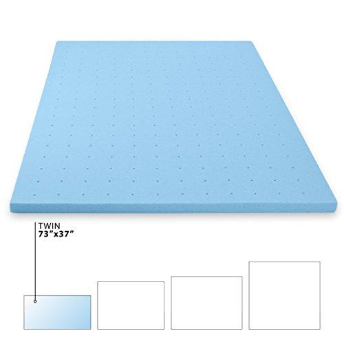 Milliard Gel Memory Foam Mattress Topper, Ultra Soft for Luxurious Comfort Plus Gel Infusion to Help Disperse Body Heat for Blissful Sleep (Twin)