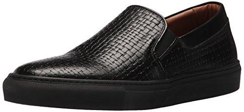 Aquatalia  Men's Anderson Sneaker, Black, 8 M US Aquatalia By Marvin K Sneakers