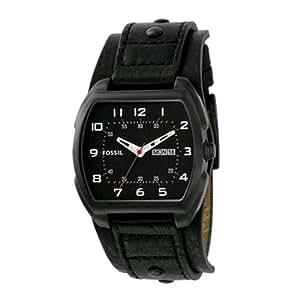 Fossil JR1067 - Reloj para hombres, correa de cuero color negro