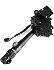 Combination Switch (Windshield Wiper + Turn Signal + Headlamp Dimmer + Cruise Control) for 03-07 CHEVROLET SILVERADO TAHOE GMC SIERRA YUKON Replaces OEM 12450067 2330856 71093