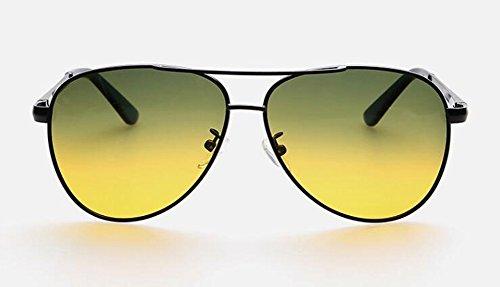 en vintage style rond soleil lunettes polarisées Comprimés Lennon du B de Verts cercle inspirées métallique retro et Jaunes wzwq0UH