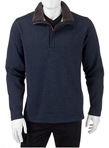 Weatherproof Vintage Men's Fleece 1/4 Zip Pullover (X-Large, Dress Blue) - Sherpa Fleece Wine