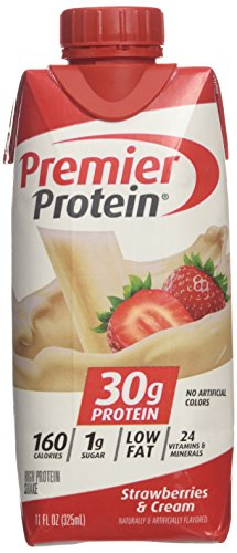 Premier Protein High Protein Shake, Strawberry Cream (11 Fl. Oz., 12 Pack), 132 Oz