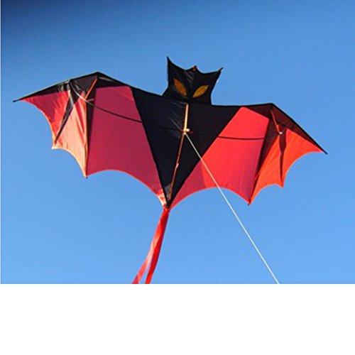 (Yeefant 1.8m 70 Inch Vampire Bat Kite One The Toys Sports Single Line Software Animal Kites Flying Outdoor Games Activities Kids,Good Plan Memorable Summer Fun)