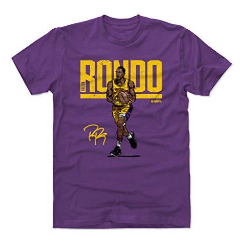 (500 LEVEL Rajon Rondo Cotton Shirt Medium Purple - Los Angeles Basketball Men's Apparel - Rajon Rondo Hyper Y WHT)