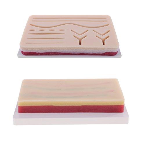 Perfk 3レイヤスキン シミュレーション人間皮膚 創傷皮膚モデル 縫合練習用模型 縫合パッドの商品画像