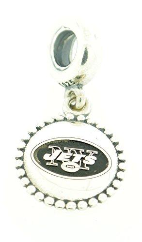 Jet Dangle (791169-G122 Pandora Sterling Silver NFL Football Dangle Charm - New York Jets)