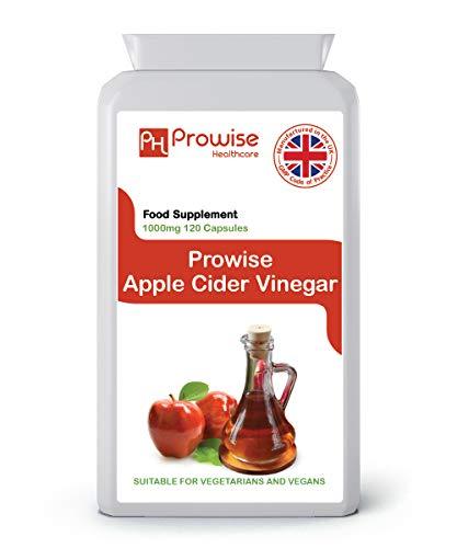Apfelessig 500mg - 120 Kapseln - UK Hergestellt nach GMP Garantierte Qualität - Geeignet für Vegetarier und Veganer von Prowise Healthcare