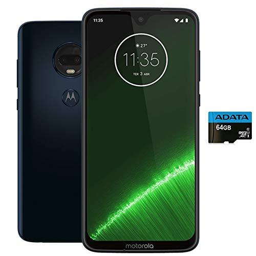 "Moto G7+ Plus (64GB + 64GB MicroSD) Dual SIM 6.2"" 4G LTE (GSM Only) Factory Unlocked Smartphone International Model XT1965-2 (Deep Indigo)"