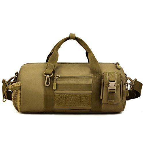 cinmaul Cilindro Barril Bolsa Militar Táctico Messenger Bag gran capacidad bolso de mano, hombre, Desert Camouflage Marrón (Coyote Brown)