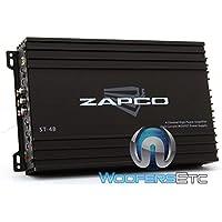 Zapco ST-4B 4 Channels Class AB Amplifier, Black