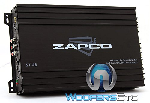 Zapco ST-4B 4 Channels Class AB Amplifier, Black for sale  Delivered anywhere in USA