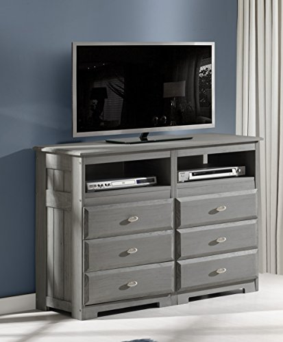 Charcoal 6 Drawer Entertainment Dresser by Discovery World Furniture