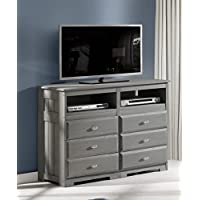 Charcoal 6 Drawer Entertainment Dresser