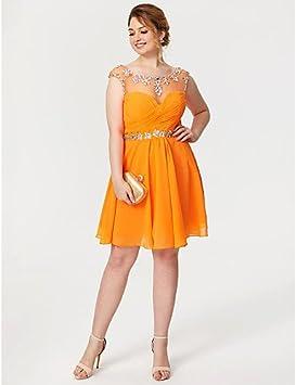 HY & czy płaszcz/podłoga kolumna High Neck długiego szyfon PROM formalnych suknia wieczorowa z perłą haftem, brązowy: Sport & Freizeit