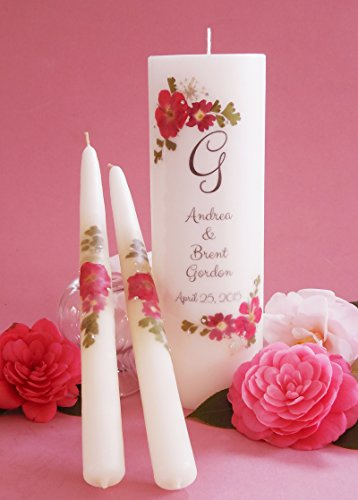 Red Bouquet Wedding Unity Candles