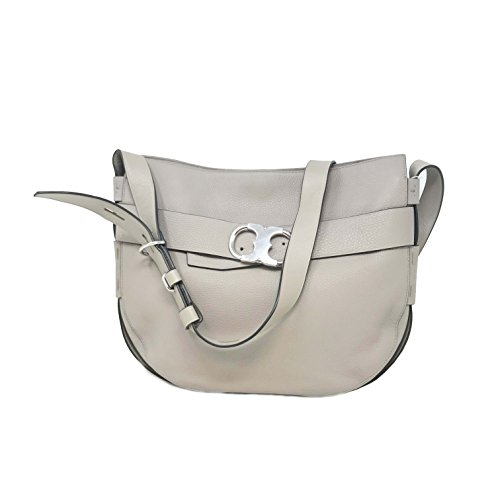 Tory Burch Gemini Belted Hobo in French Gray (Hobo Belted Handbag)