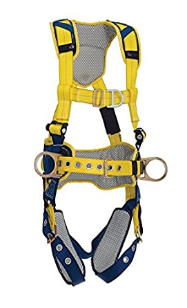 3M DBI-SALA DeltaComfort 1100635 Fall Arrest Kit with Back//Front//Side D-Rings Tongue Buckle Leg Straps and Comfort Padding Belt with Pad X-Large Navy//Yellow