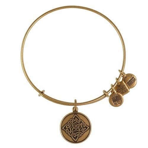 Alex and Ani Charity By Design Celtic Knot Rafaelian Gold Bangle Bracelet -