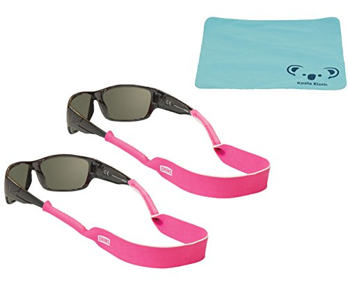 chums-classic-neoprene-eyewear-retainer-2x-bundle-with-koala-eyeglass-sunglass-cleaning-cloth-pink