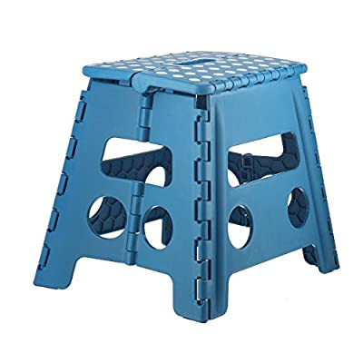Home-it Folding Step Stool 13 In. (Blue) Holds up to 300 LBS