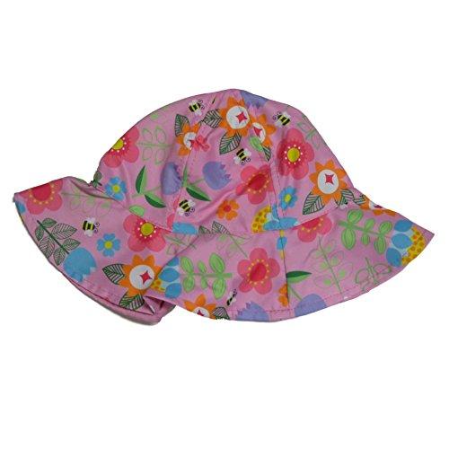 ABG Toddler Girls Pink Floral Sun Hat Floppy Bumblebee Bucket Cap (Bumble Bee Toddler Cap)