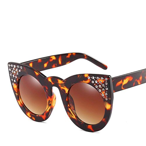 Aoligei Lunettes de soleil fashion européens et américains grand cadre réflectorisé marée luxe femelle diamant lunettes cool AIF4IGB
