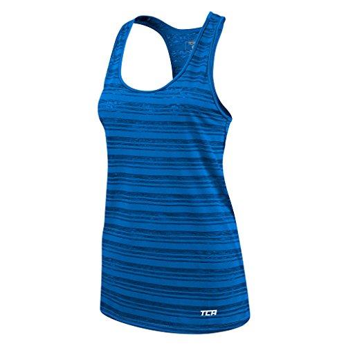 Women's TCA Ultralite Running Tank Sleeveless Vest Top - Blue Azure M