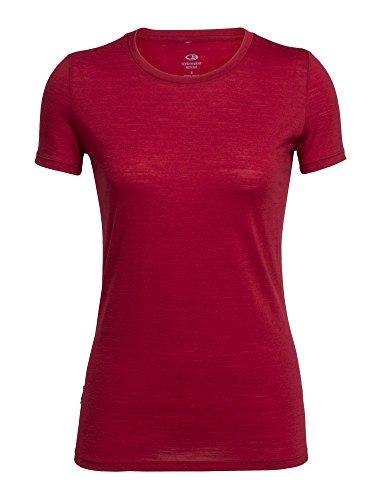 Icebreaker Women's Tech Lite Short Sleeve Crewe T-Shirt, Medium, Oxblood