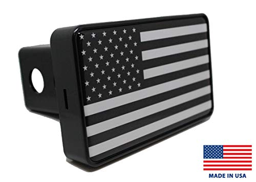 Bright Hitch - Black & White American Flag Hitch Cover