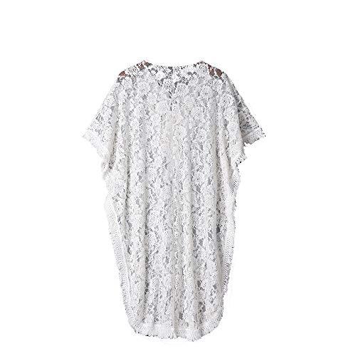 Fleur Tee Chemise Youngii Blouse La Manches Longue Cover Femme Bikini Tops Longue Shirt Perspective Dentelle aAC4wCq