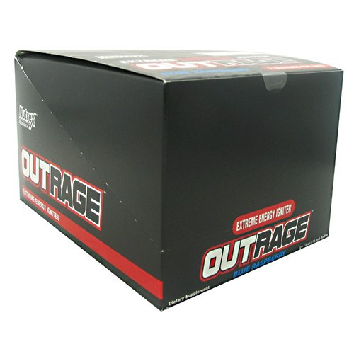 Nutrex Outrage Energy Shot Blue Raspberry 12 (4oz) bottles