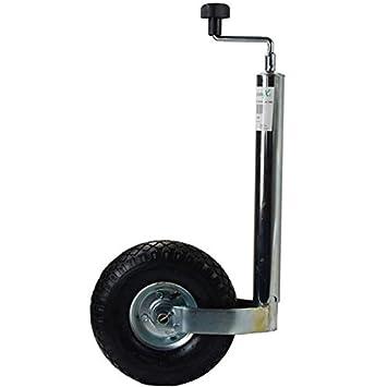 Rueda jockey, rueda de apoyo para automóviles, colgante, para caravana, trailer, neumáticos de aire con llanta ...
