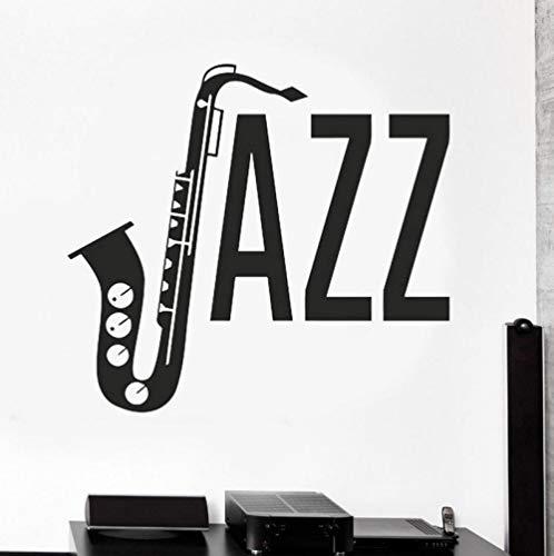 qzheng Jazz Music Wall Decoration Music Melody Note Sticker Guitarist Vinyl Wall Sticker 62 X 57Cm